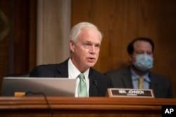 FILE - Committee Chairman Sen. Ron Johnson, R-Wis., speaks on Capitol Hill, June 25, 2020.