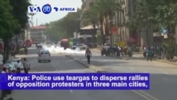VOA60 Africa - Kenya Police Shoot Dead 2 Protesters Amid Opposition Demonstrations