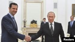 普京和阿萨德2015年在克林姆林宫会谈