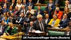 British Prime Minister Boris Johnson at the House of Commons in London, Britain September 16, 2021.