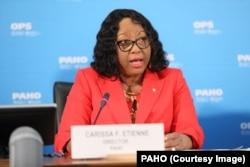 PAHO Direktörü Carissa Etienne