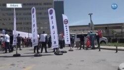 Ankara'da 1 Mayıs Acil Servis Önünde Kutlandı