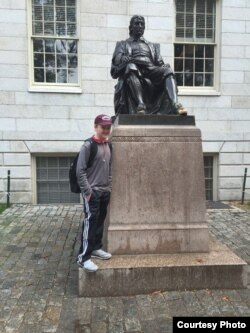 Though most of his Harvard courses were online, Braxton Moral, 16, spent one summer taking classes on the campus of Harvard University.