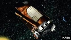 NASA shows the Kepler space telescope.