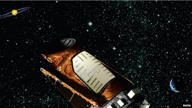 FILE - Undated artist's rendering of Kepler space telescope released by NASA.