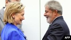 Хиллари Клинтон и Луис Инасиу Лула да Силва