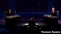 Cuộc tranh luận giữa hai ứng viên Kamala Harris và Mike Pence tại Salt Lake City.