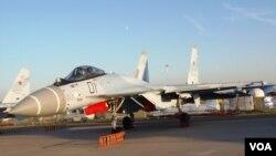 Chiến đấu cơ SU-35 tại triển lãm hàng không Moscow.
