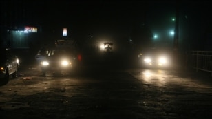 FILE - Traffic at night in Kabul, Afghanistan.