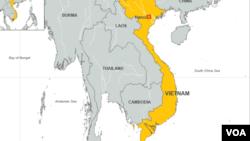 越南地理位置图