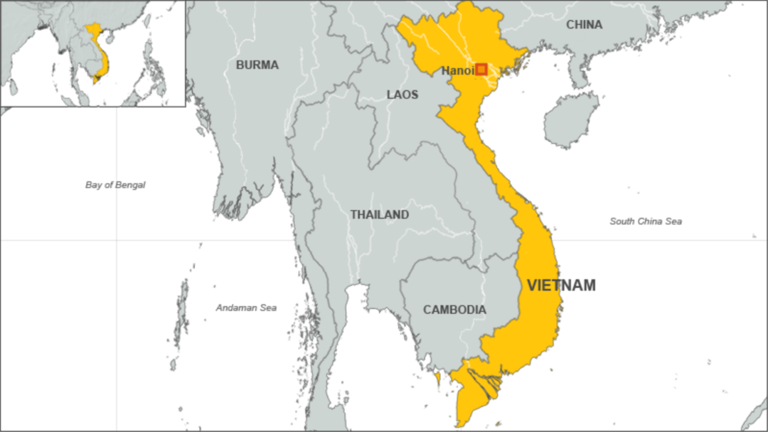 Vietnam Defends Foreign Policy China Ties - World map in vietnamese language