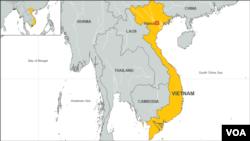 Peta wilayah Vietnam