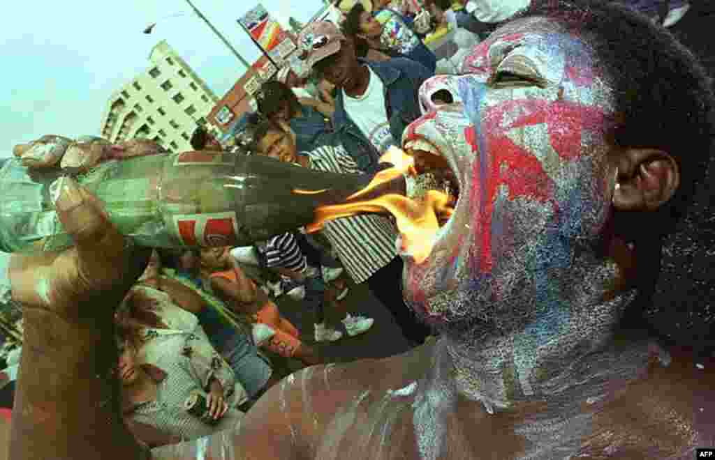 Учасники параду у столиці Панами.