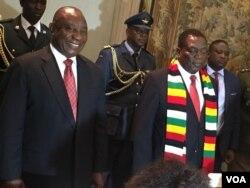 UMongameli Cyril Ramaphosa loMongameli Emmerson Mnangagwa