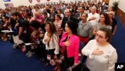 2019年8月16日公民候選人在邁阿密舉行入籍儀式