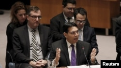 Danny Danon, représentant permanent d'Israel, devant le Conseil de sécurité de l'Onu, New York, le 26 janvier 2016.