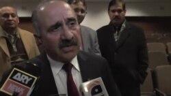 ُپاکستان کے سیکریٹری دفاع لیفٹنٹ جنرل عمر کی میڈیا سے بات چیت