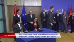 Việt Nam đề nghị EU không đưa nhân quyền vào hiệp định thương mại