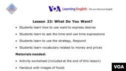 Lesson 23 Lesson Plan