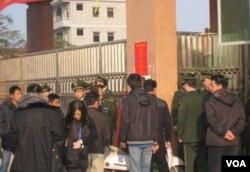乌坎选举现场有武警把守 (资料照片)