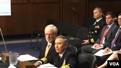 美军高官2015年9月17日在国会作证