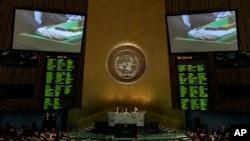 Голосование на Генеральной Ассамблее ООН. Нью-Йорк