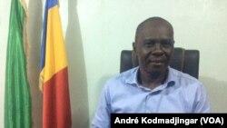 Max Kemkoi president de l'UDP, à N'Djamena au Tchad, le 20 janvier 2019. (VOA/André Kodmadjingar)