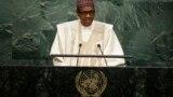 Shugaba Buhari yayinda yake jawabi a Majalisar Dinikn Duniya