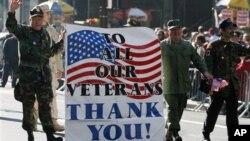 Các cựu chiến binh Mỹ diễu hành kỷ niệm ngày Cựu Chiến Binh tại New York