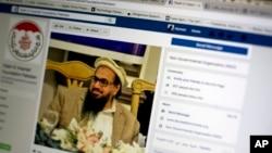 Foto Hafiz Saeed, salah satu teroris paling dicari oleh India, tampak di laman Facebook. Hafiz adalah pendiri Lashkar-e-Taiba, organisasi terlarang dan dinyatakan oleh AS sebagai kelompok teroris di Islamabad, Pakistan, 7 Juli 2017.