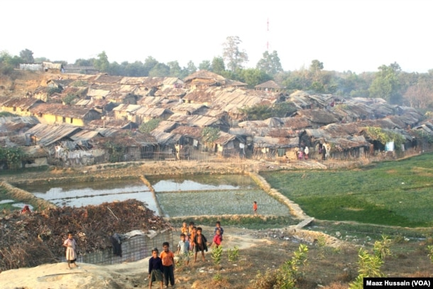 Rohingyas who fled Myanmar over the past decades live in this decrepit Kutupalong illegal Rohingya refugee colony in Cox's Bazar district, Bangladesh.