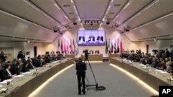 وزیران نفت سازمان کشورهای صادرکننده نفت، در وین – ۲۱ خرداد ۱۳۹۳