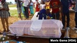 Tendai Ndemera coffin