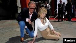 Питер и Джейн Фонда, Голливуд, апрель 2013 года