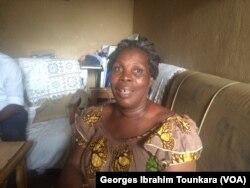 Antoinette Meho libérée après neuf mois de détention sans jugement, à Abidjan, le 10 juin 2017. (VOA/Georges Ibrahim Tounkara)