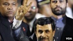 Prezidan Iranyen an, Mahmoud Ahmadinejad (AP Photo/Ariana Cubillos)