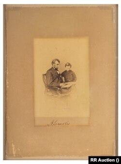 ابراهام لینکن و پسرش تد