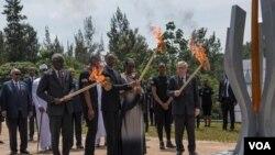 Umuhango wo gucana urumuri rw'icyizere ku Gisozi, Kigali, Rwanda 07/04/2019