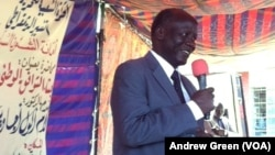 South Sudan opposition leader Lam Akol, shown here giving a speech at the University of Juba in 2013, has filed a legal complaint against President Salva Kiir's order to expand the number of states from 10 to 28.