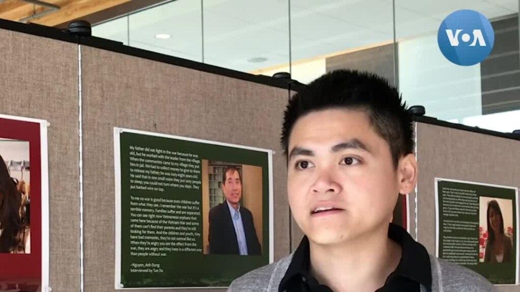 Ông Nguyễn Thiện Ý trả lời VOA bên lề hội thảo về nền Cộng hòa ở miền Nam Việt Nam