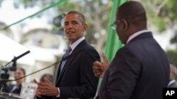 El presidente Barack Obama y su homólogo senegalés, Macky Sall, durante la rueda de prensa.