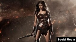 Tokoh pahlawan super Wonder Woman.