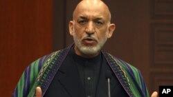 하미드 카르자이 아프가니스탄 대통령. (자료사진)