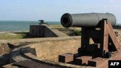 Pháo đài Fort Gaines thời Nội chiến nằm trên đảo Dauphin của bang Alabama
