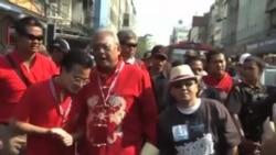 泰選舉前夕抗議者繼續反政府運動