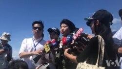 台湾空军首位IDF女飞行员范宜铃接受媒体采访