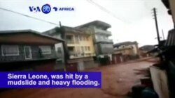 VOA60 Africa - Death Toll Passes 300 in Flood-Stricken Sierra Leone Capital