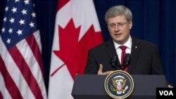 """El primer ministro Sthepen Harper dijo que se creará una """"nueva y moderna frontera""""."""