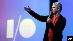 In this May 15, 2013 file photo, Google co-founder and CEO Larry Page speaks during the keynote presentation at Google I/O 2013 in San Francisco. (AP Photo/Jeff Chiu, File)
