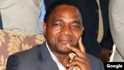FILE - Hakainde Hichilema of Zambia.